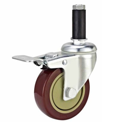 Medium Duty Caster Polyurethane Wheel with Plastic Cover
